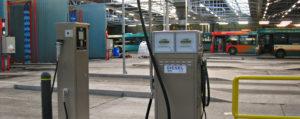 Cardiff bus fuel island